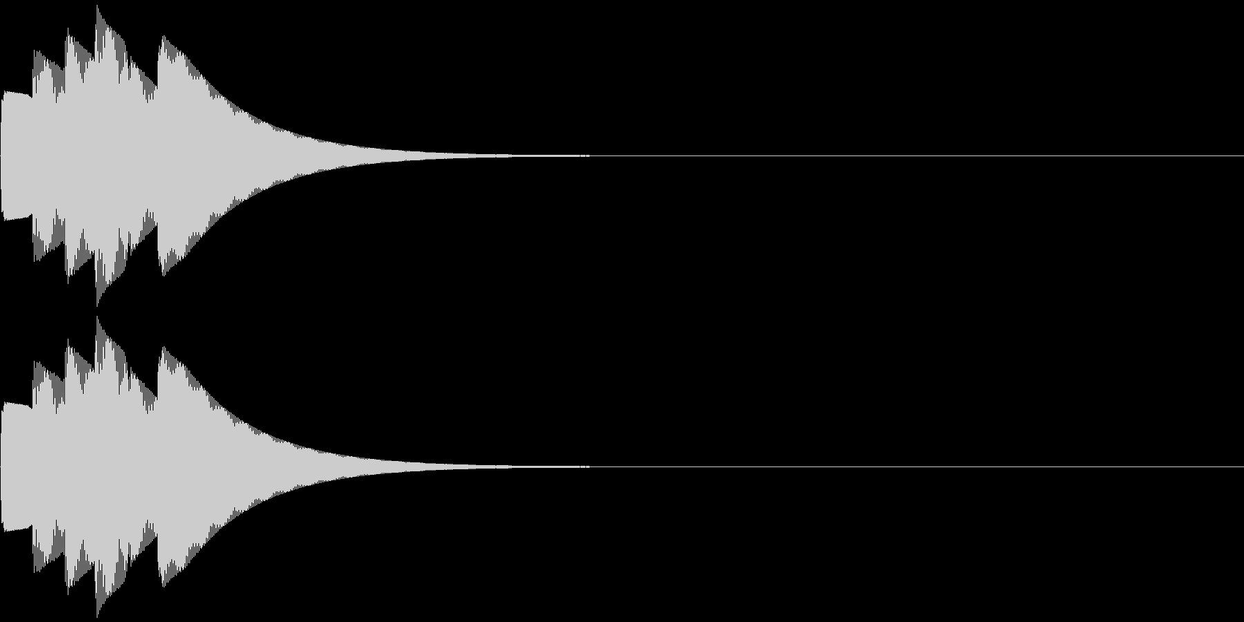 クイズ正解音・ピンポーン3回の未再生の波形