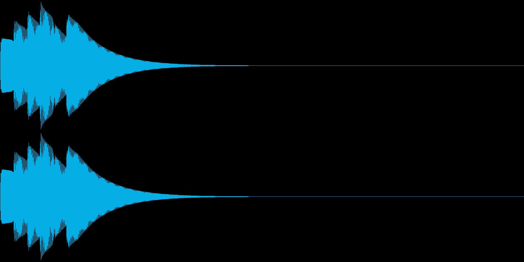 クイズ正解音・ピンポーン3回の再生済みの波形