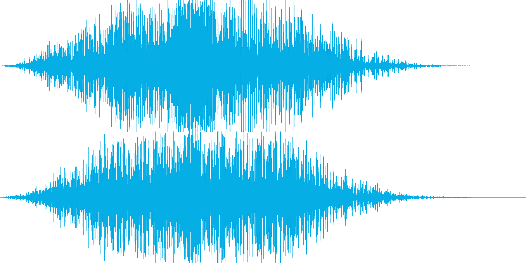 ブォン(インパクト)の再生済みの波形