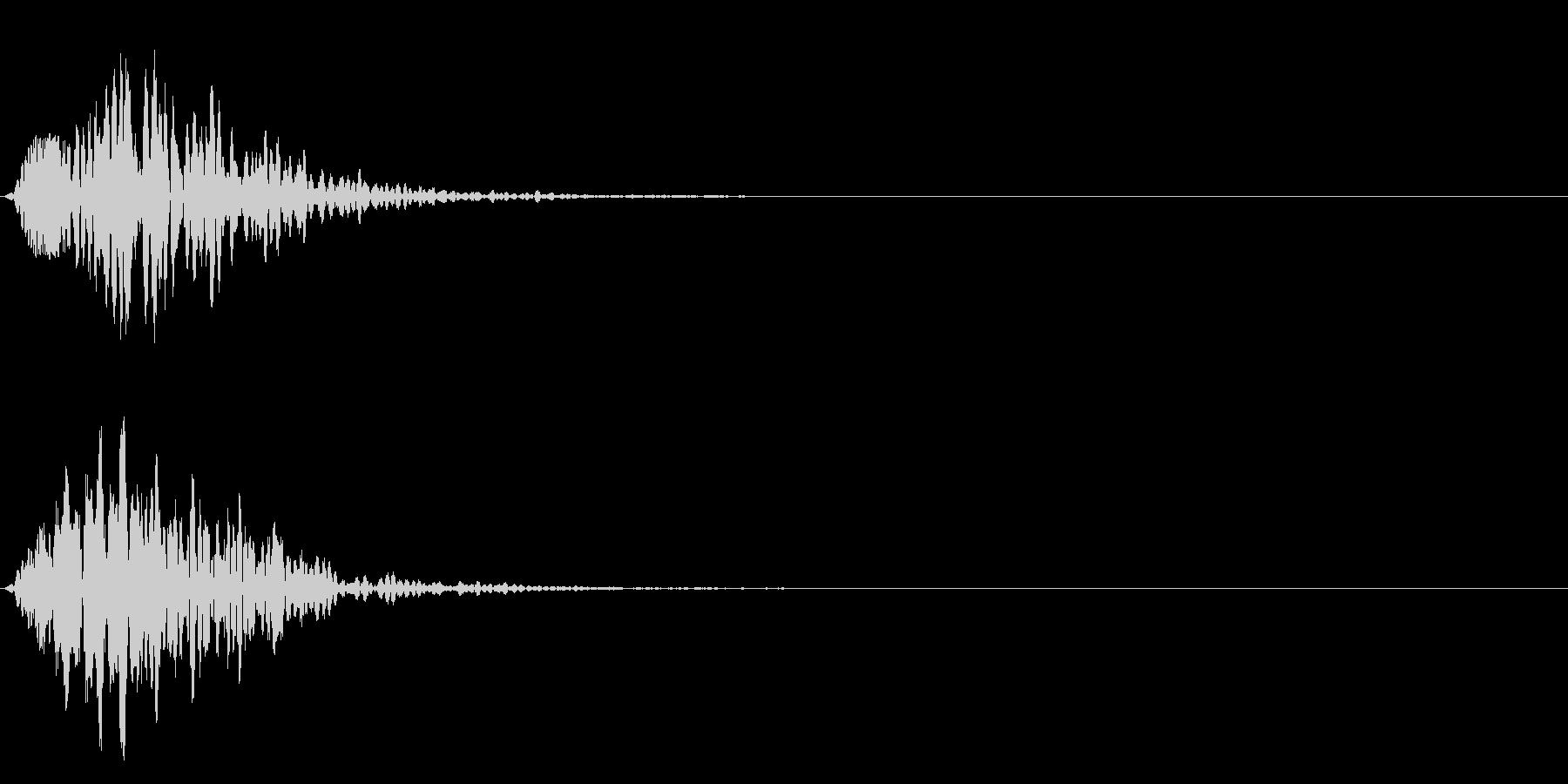 可愛い選択音、決定音、足音、テロップ!3の未再生の波形