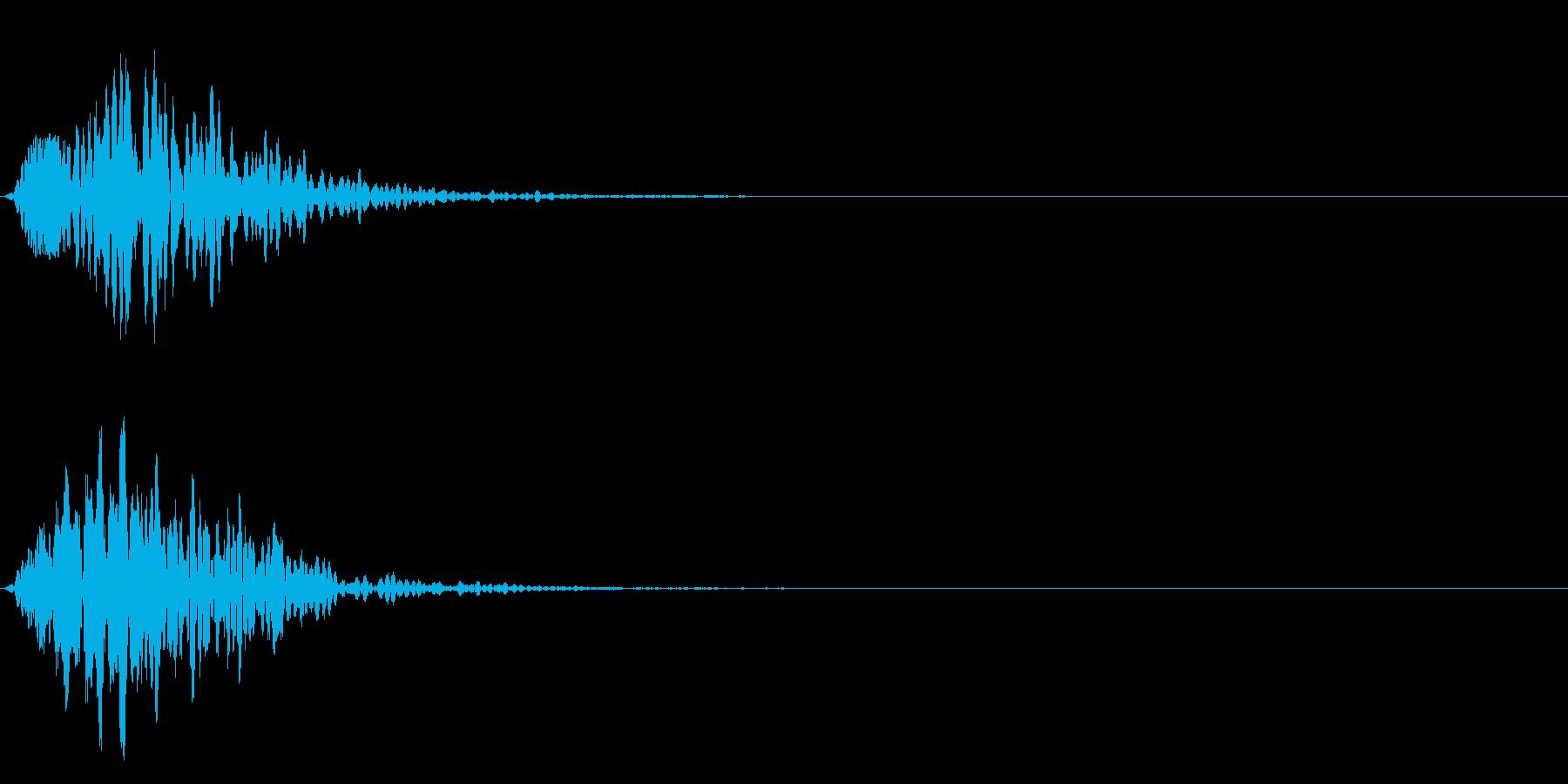 可愛い選択音、決定音、足音、テロップ!3の再生済みの波形