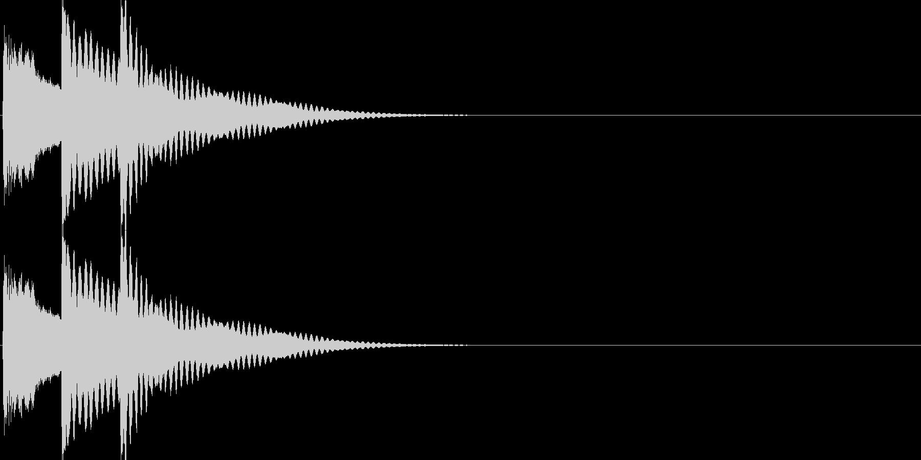 戻る・キャンセル音(木琴)の未再生の波形