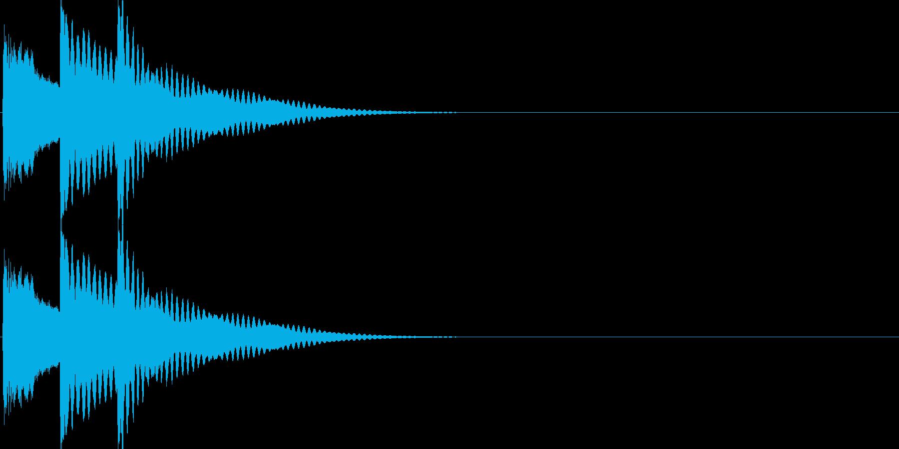 戻る・キャンセル音(木琴)の再生済みの波形