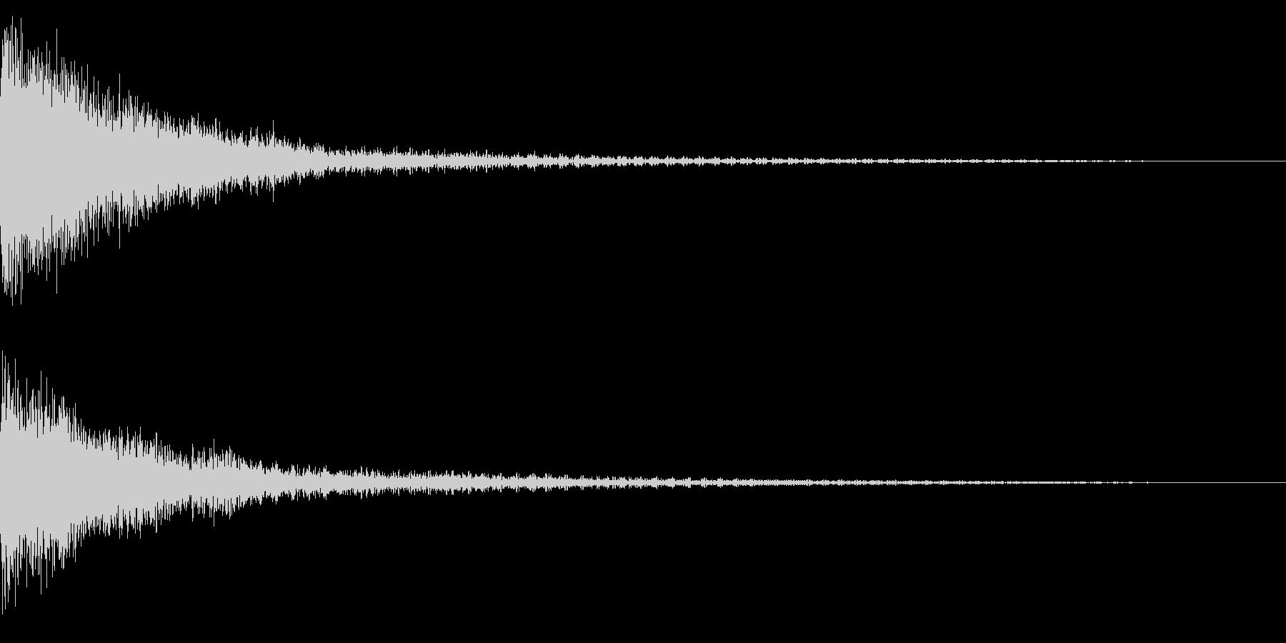 ホラー系アタック音70の未再生の波形