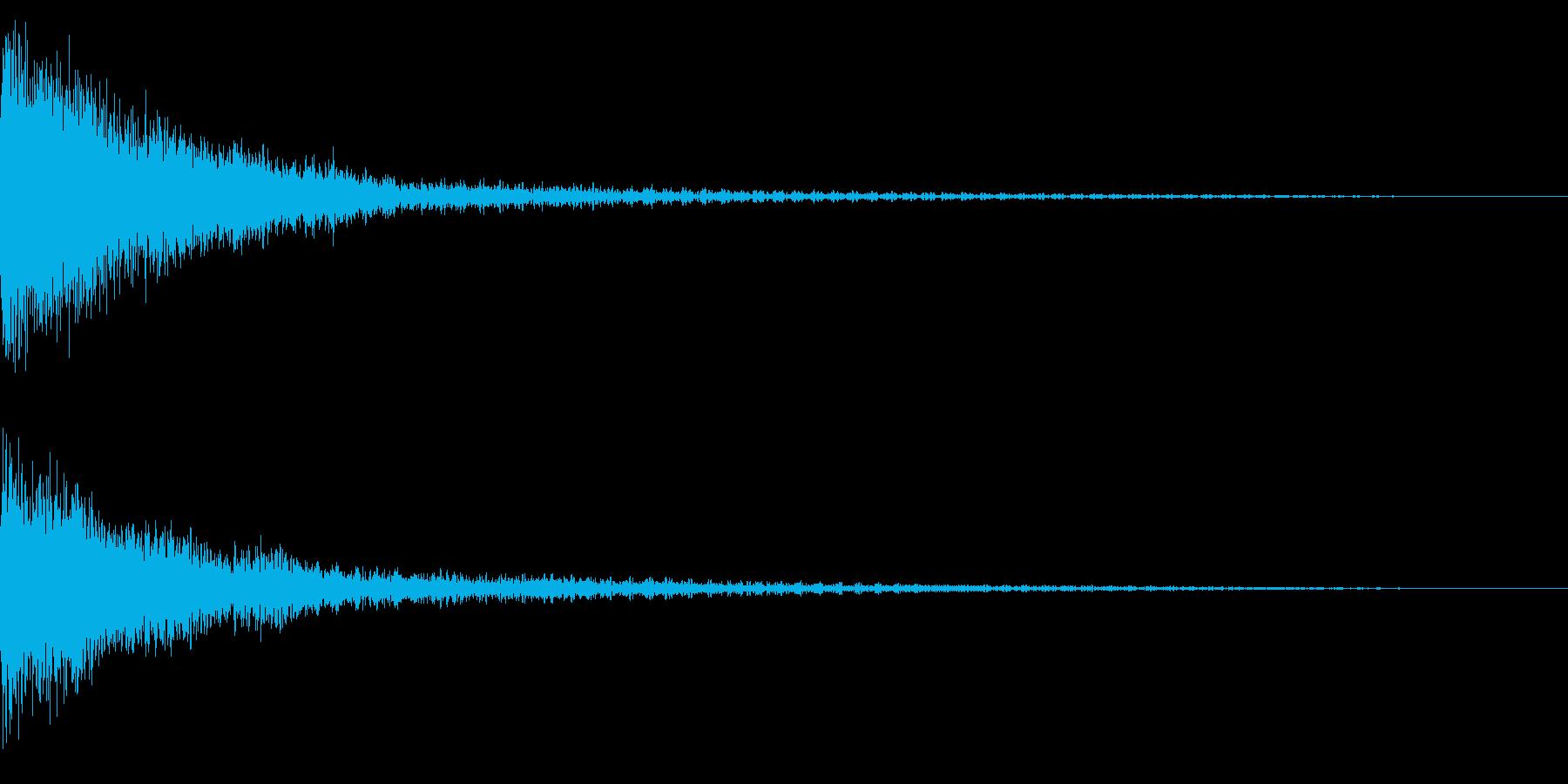 ホラー系アタック音70の再生済みの波形