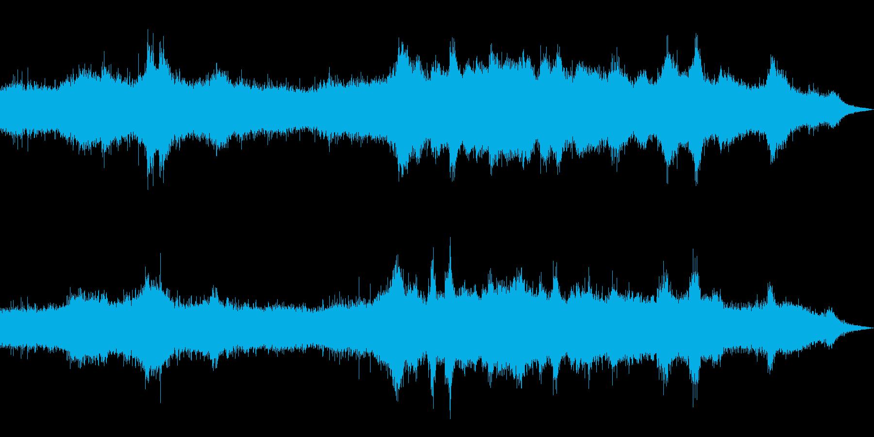 環境音-雨の日の道路の再生済みの波形