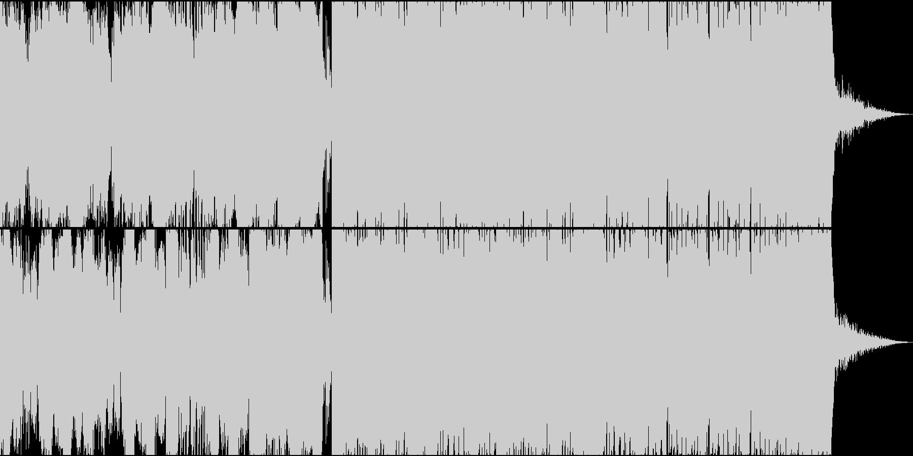 力強い欧米の雰囲気を感じるトラップEDMの未再生の波形