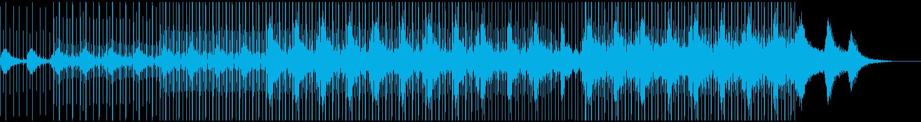Boards of Canada風BGMの再生済みの波形