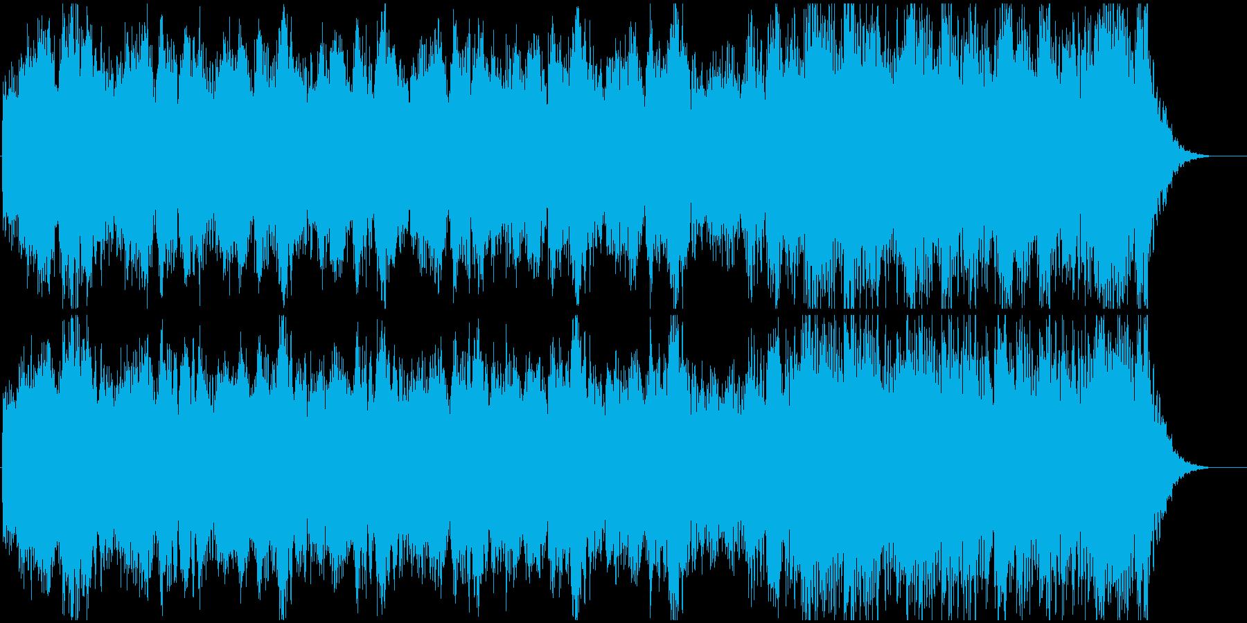 恐怖を煽るトレーラーの前半部分に最適の再生済みの波形