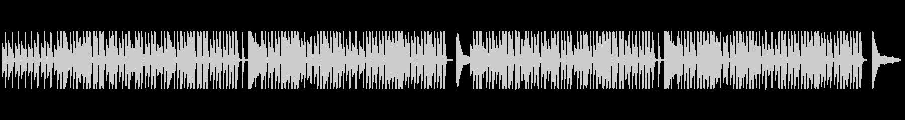 軽快・ハイテンポなラグタイムの未再生の波形