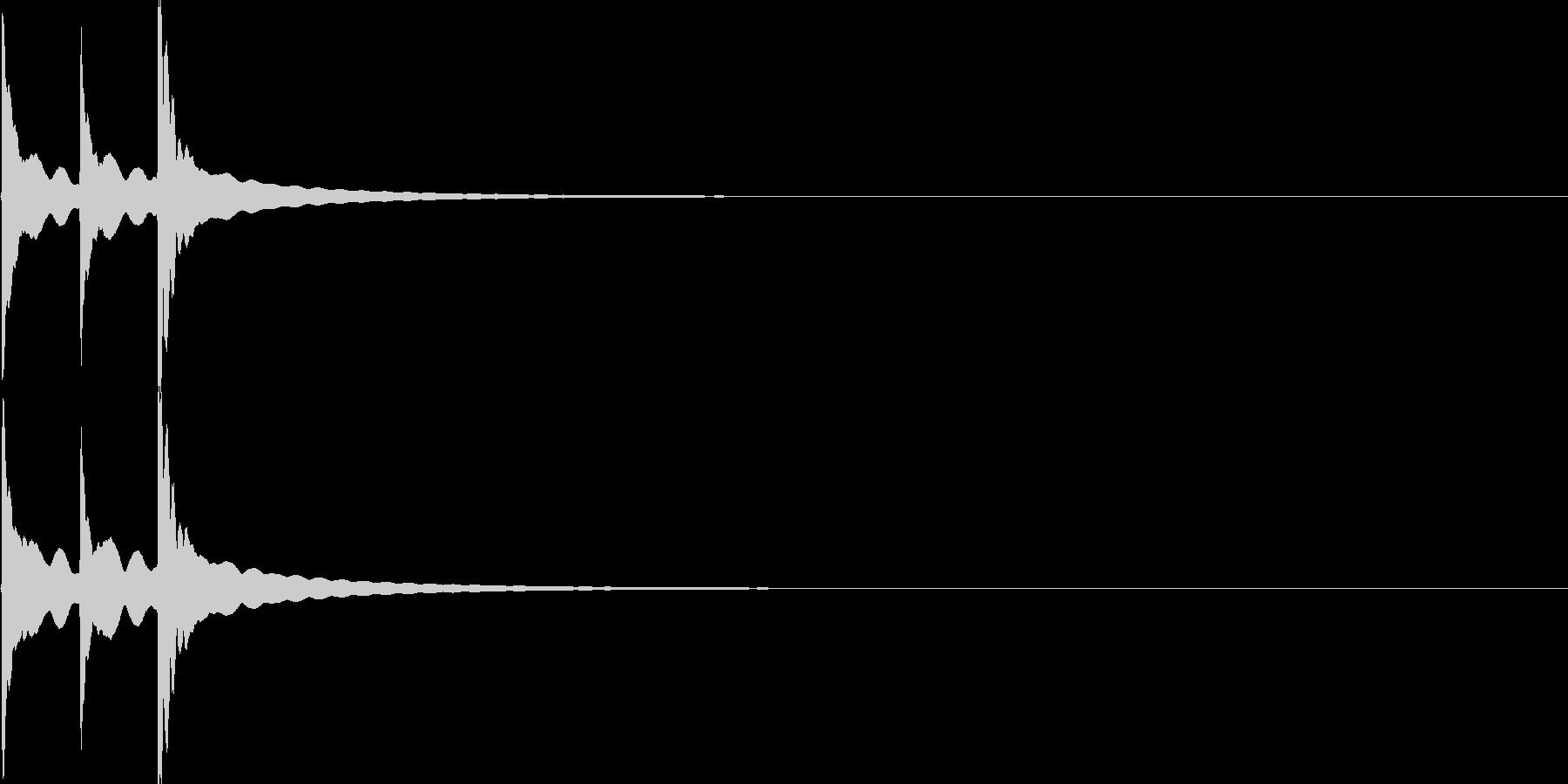 チーン(自転車のベル)3回【生録音】の未再生の波形