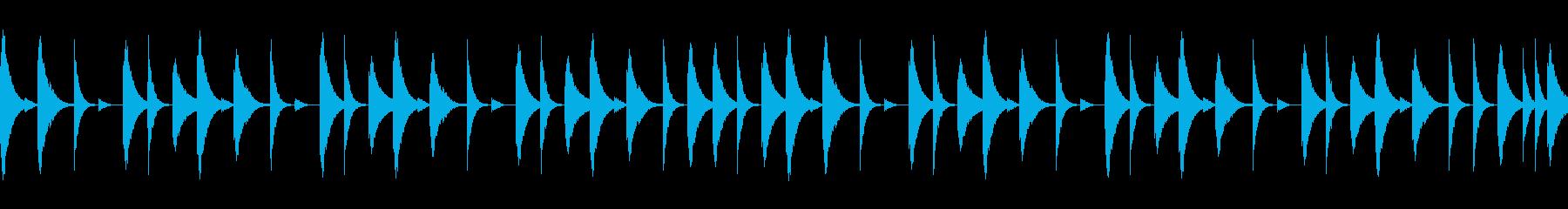 808音源を使用したシンプルなリズム04の再生済みの波形