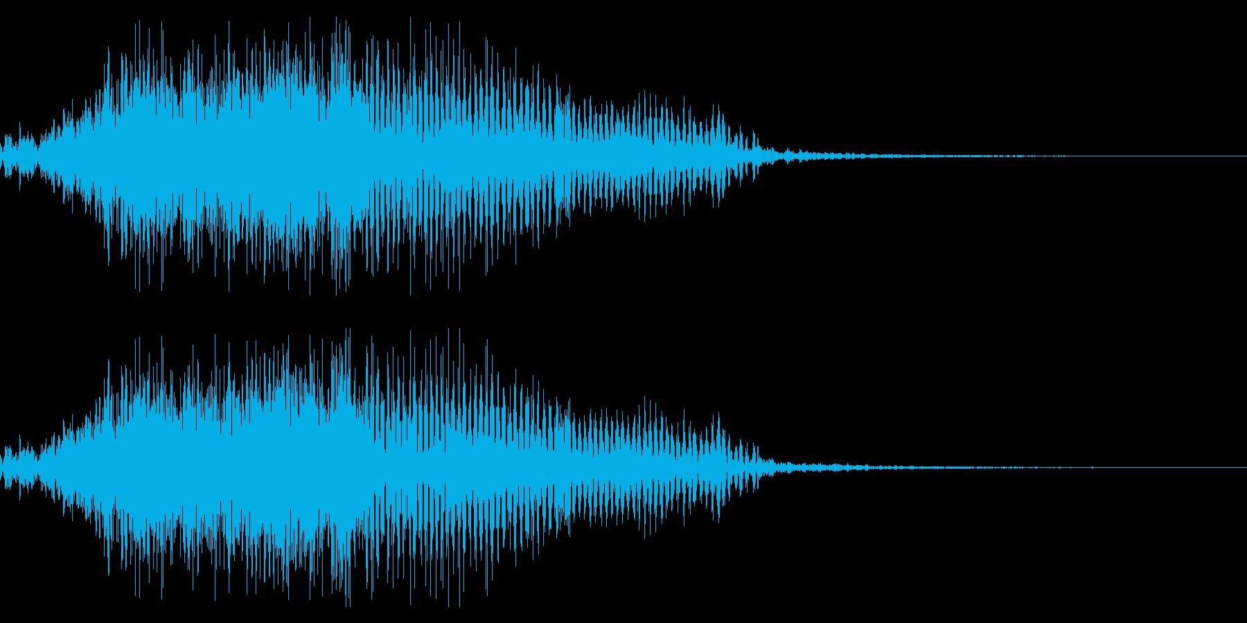 鳴き声01(ミニデビル、ブタ系)の再生済みの波形