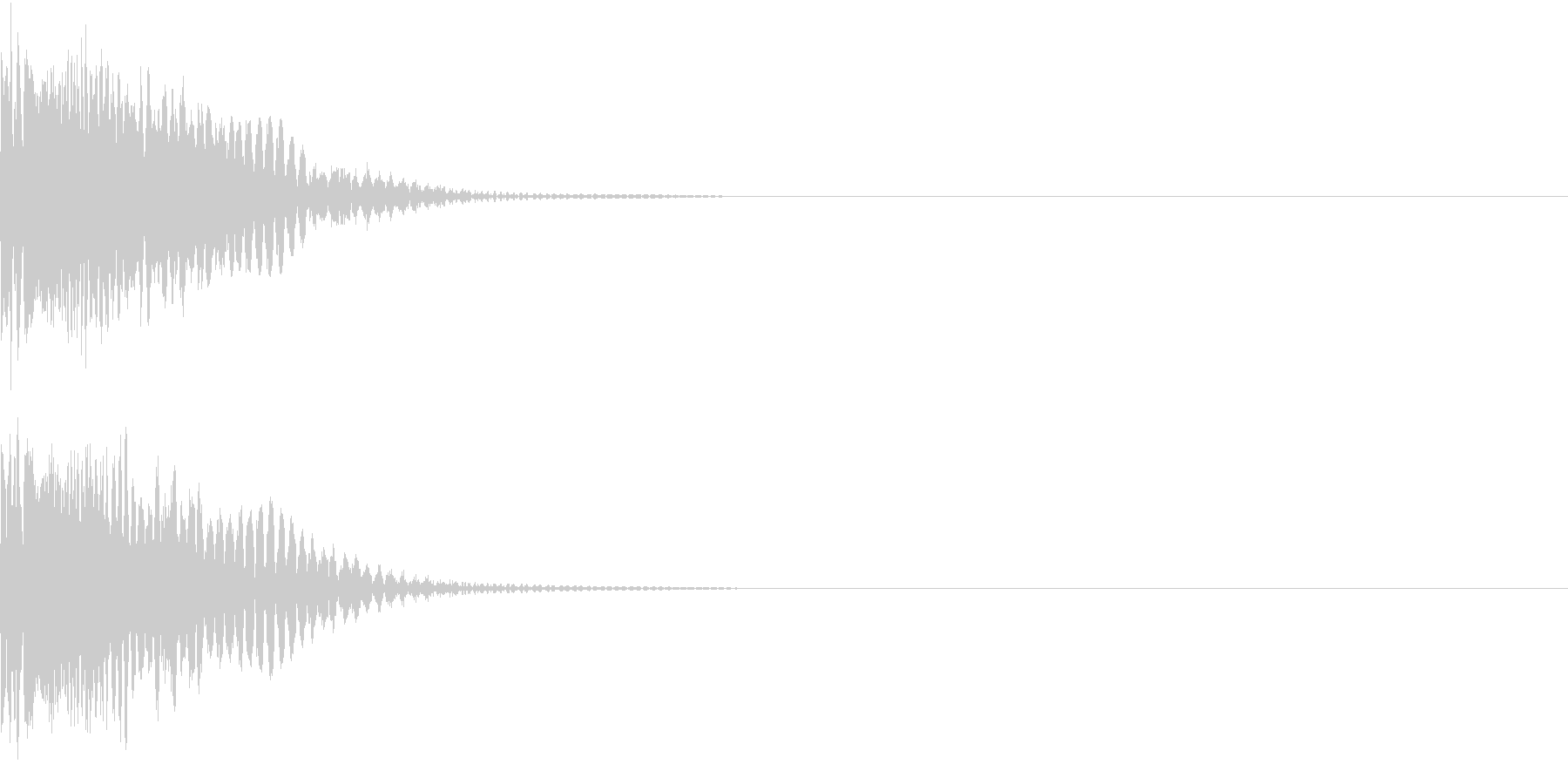 SF 宇宙戦争 レーザーピストルの音の未再生の波形