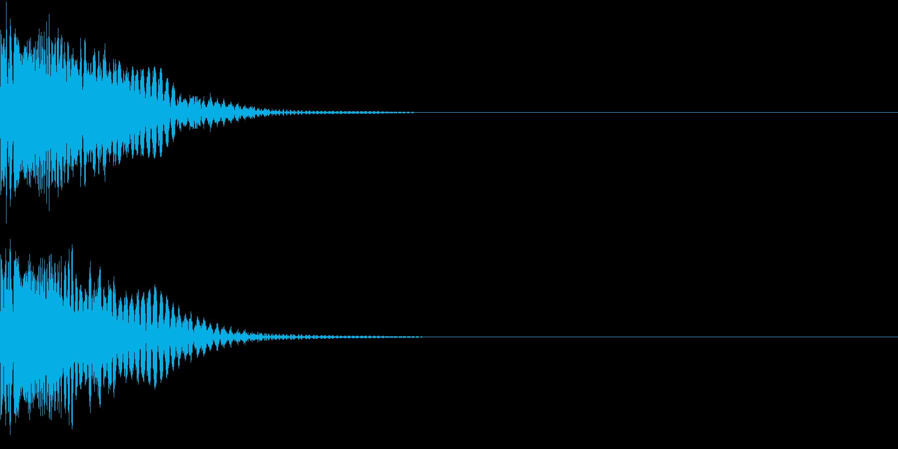 SF 宇宙戦争 レーザーピストルの音の再生済みの波形