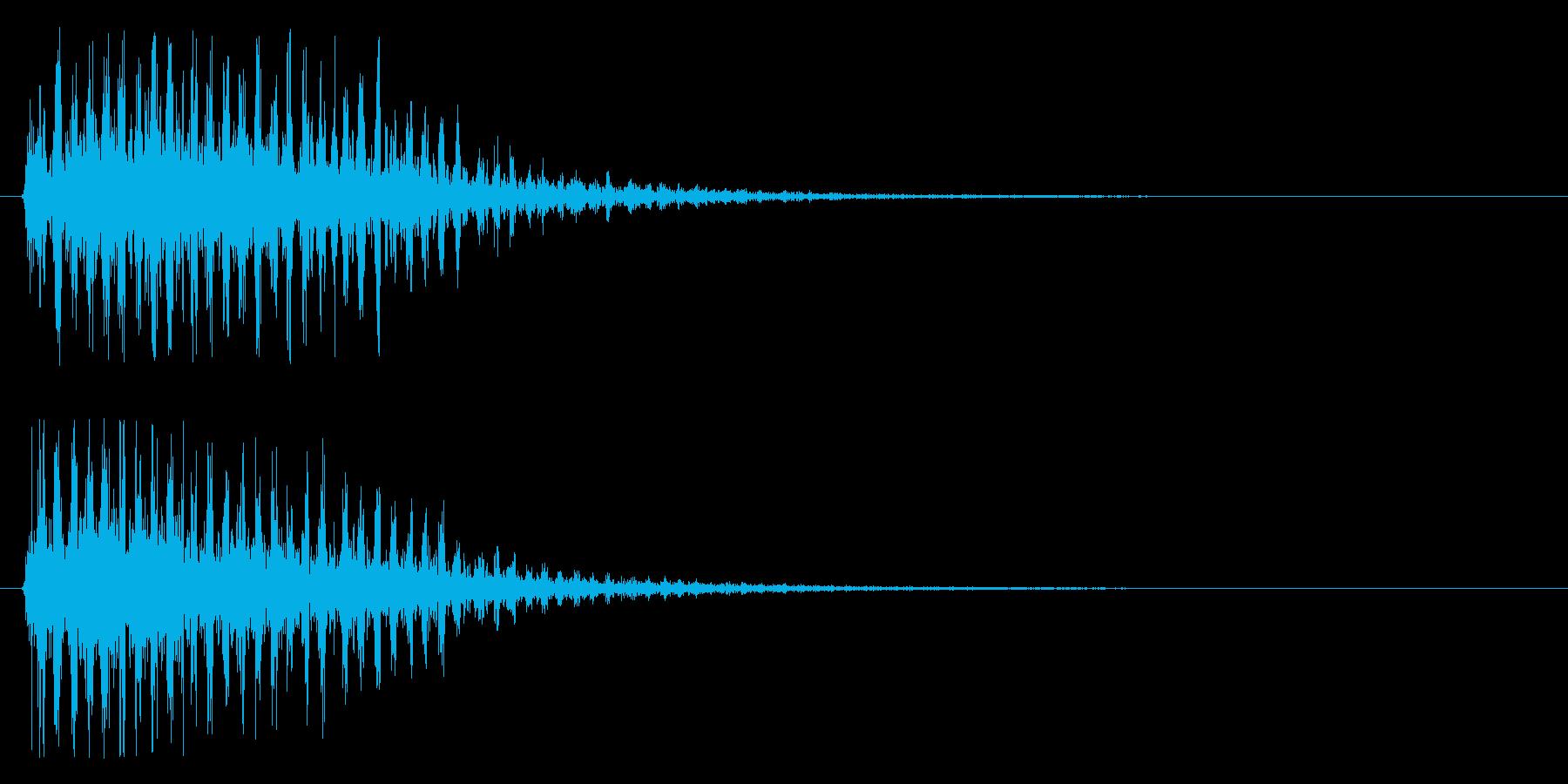 グワワ・ワワ・ワワ・・・の再生済みの波形