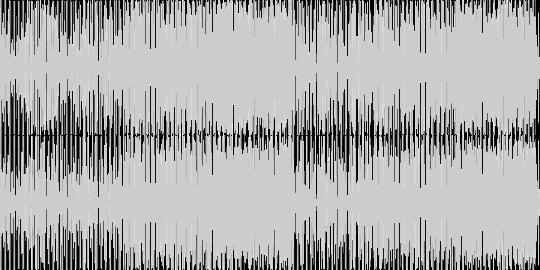 日常的なシーンを想定したテクノポップの未再生の波形