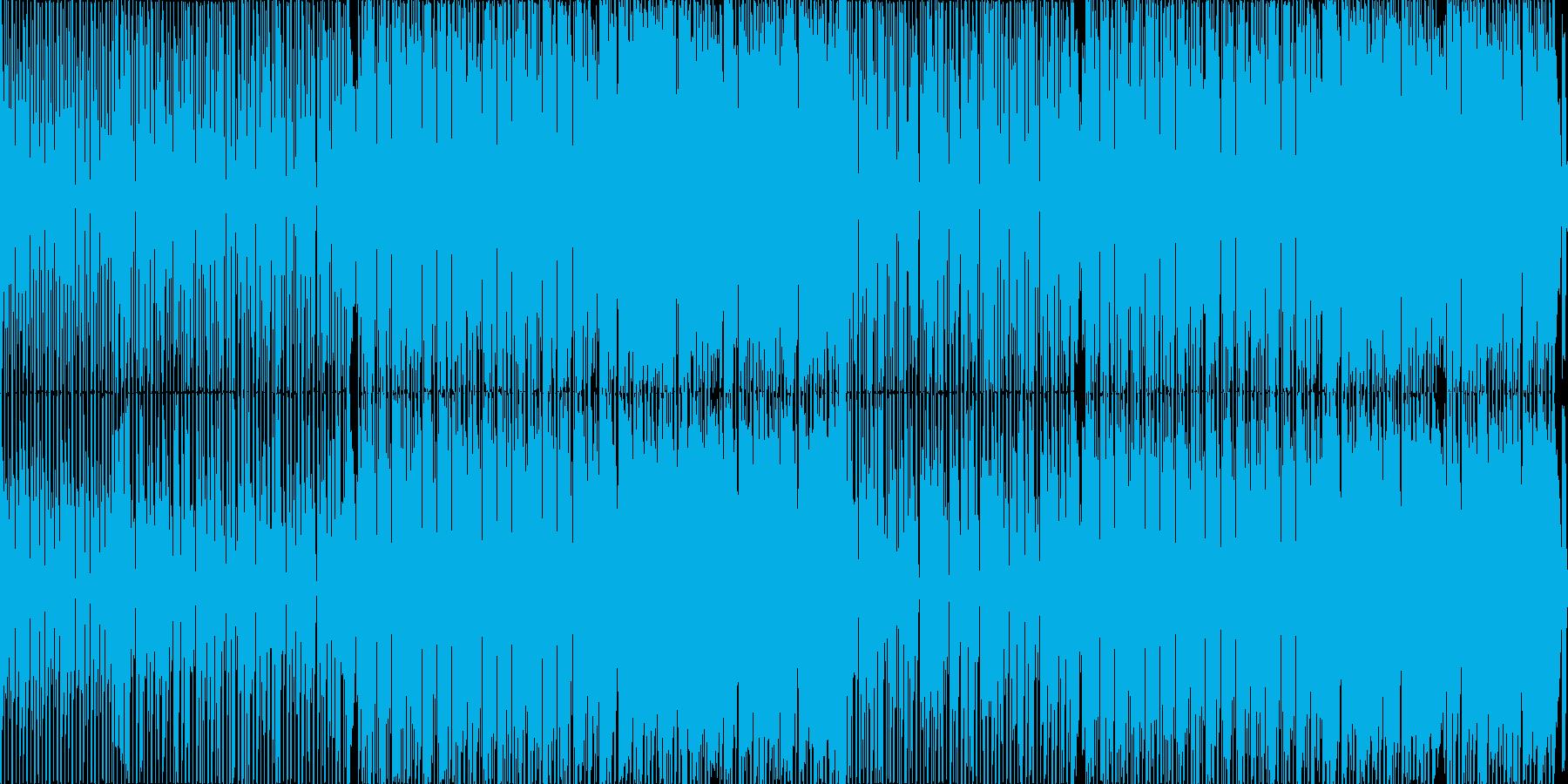 日常的なシーンを想定したテクノポップの再生済みの波形