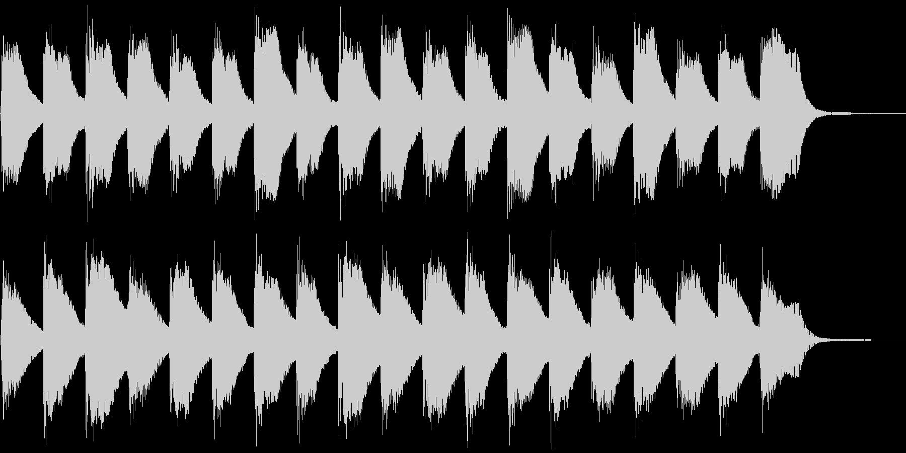 子供と爽やかピアノ、5秒CM、ver.Cの未再生の波形