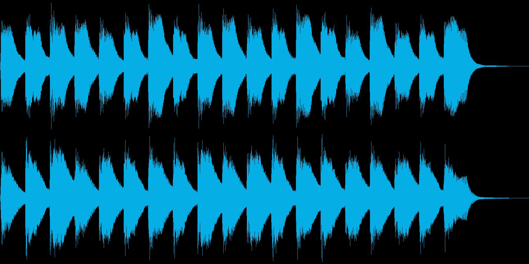 子供と爽やかピアノ、5秒CM、ver.Cの再生済みの波形