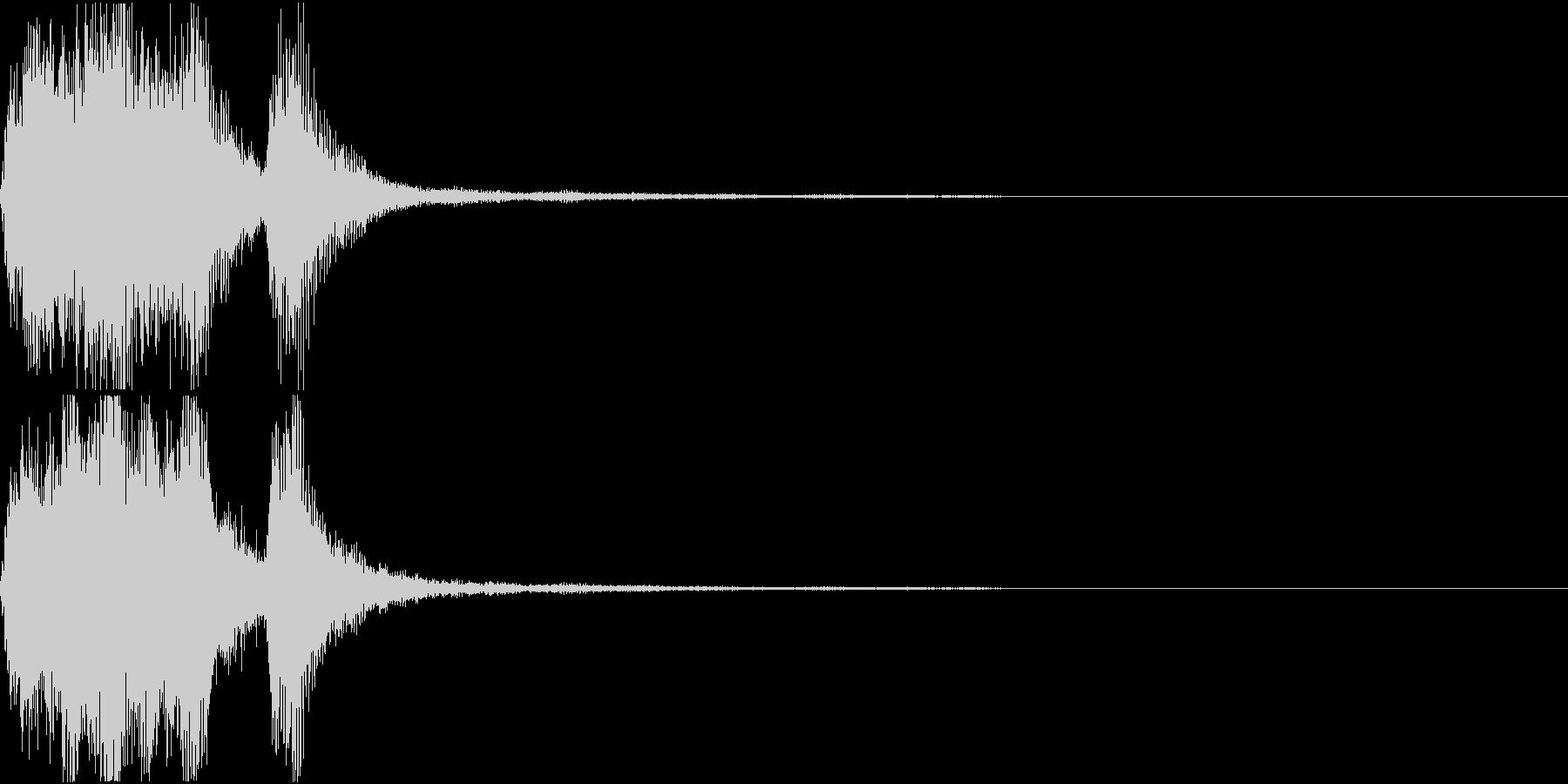 ラッパ ファンファーレ 定番 24の未再生の波形