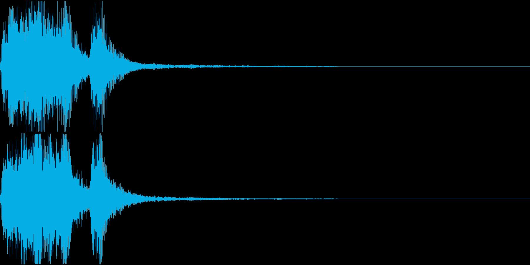ラッパ ファンファーレ 定番 24の再生済みの波形