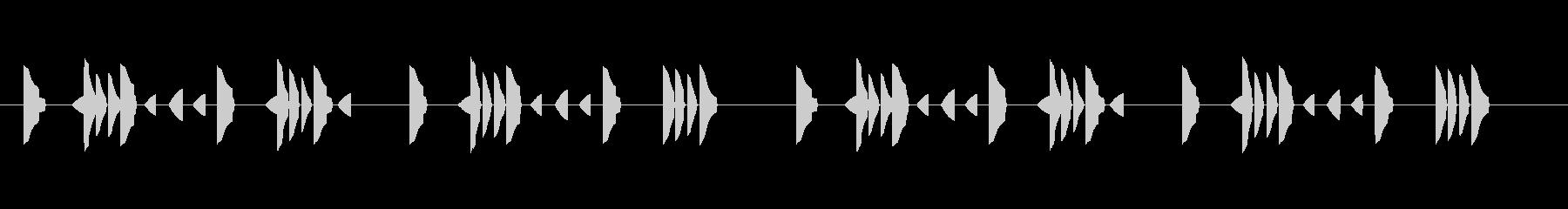 はっきりしない靄のような音の未再生の波形
