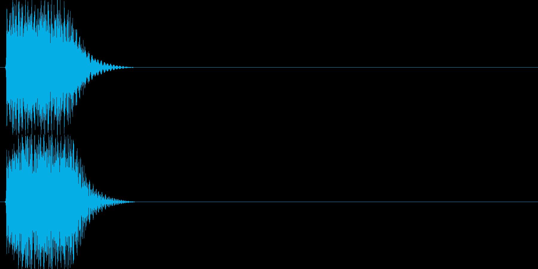 テテン(様々なシーンに利用できるアラー…の再生済みの波形