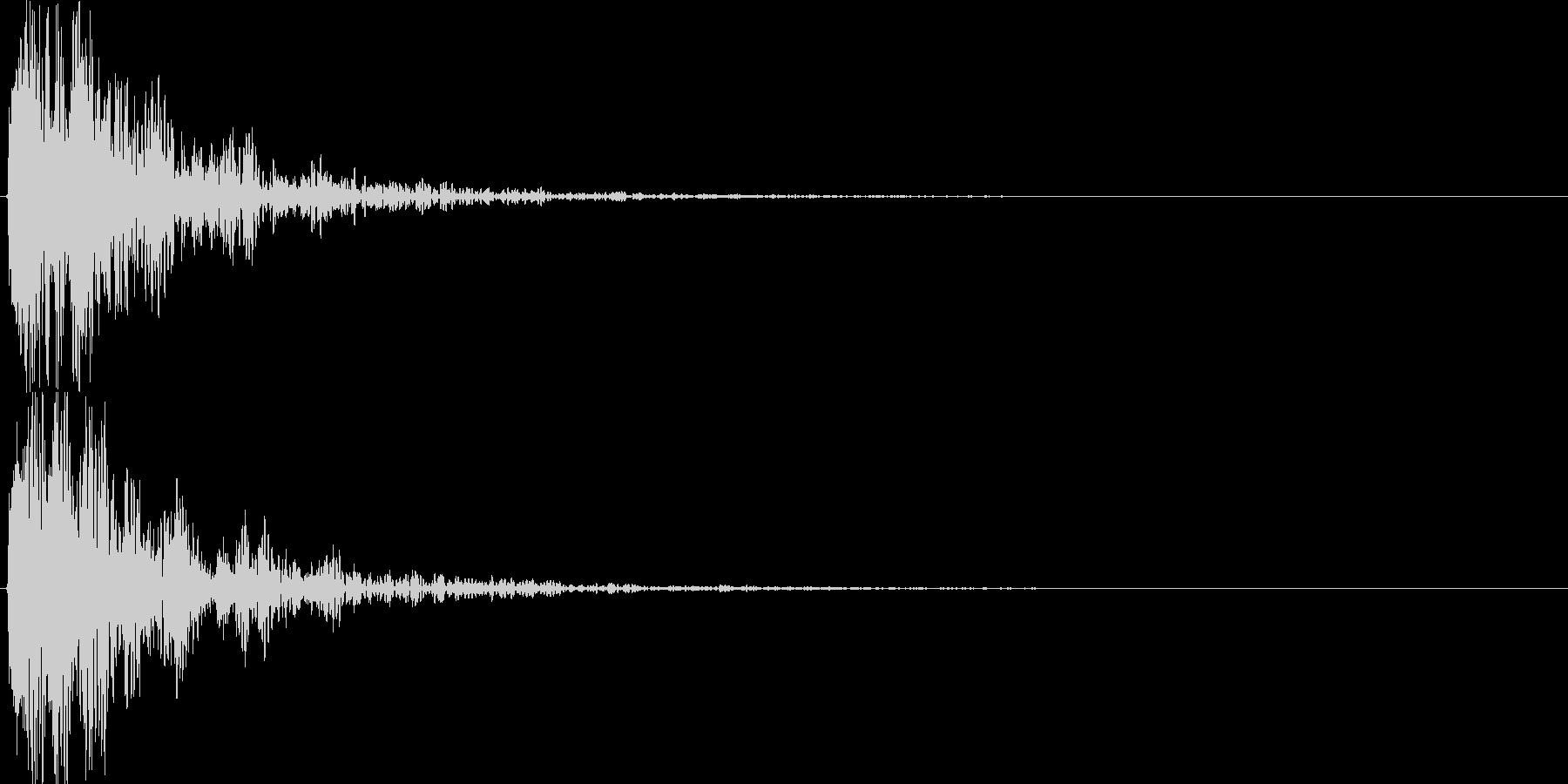 ドーン!(バーン!)という衝撃音の未再生の波形