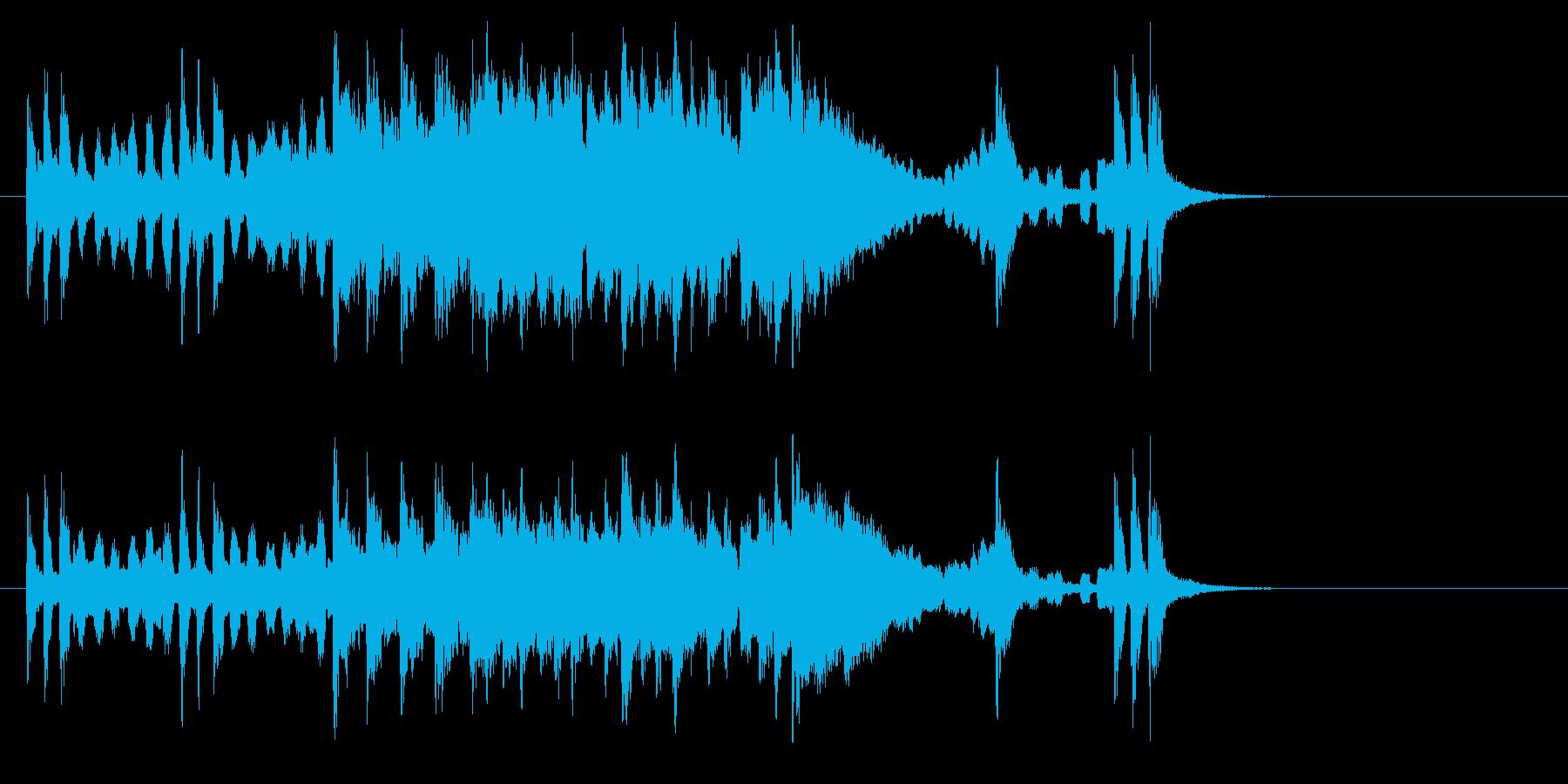 """女性的な""""うきうき""""ヨーロッパ風サウンドの再生済みの波形"""