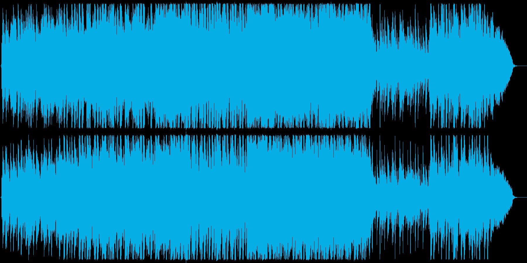 映像向き爽やか感動オーケストラの再生済みの波形