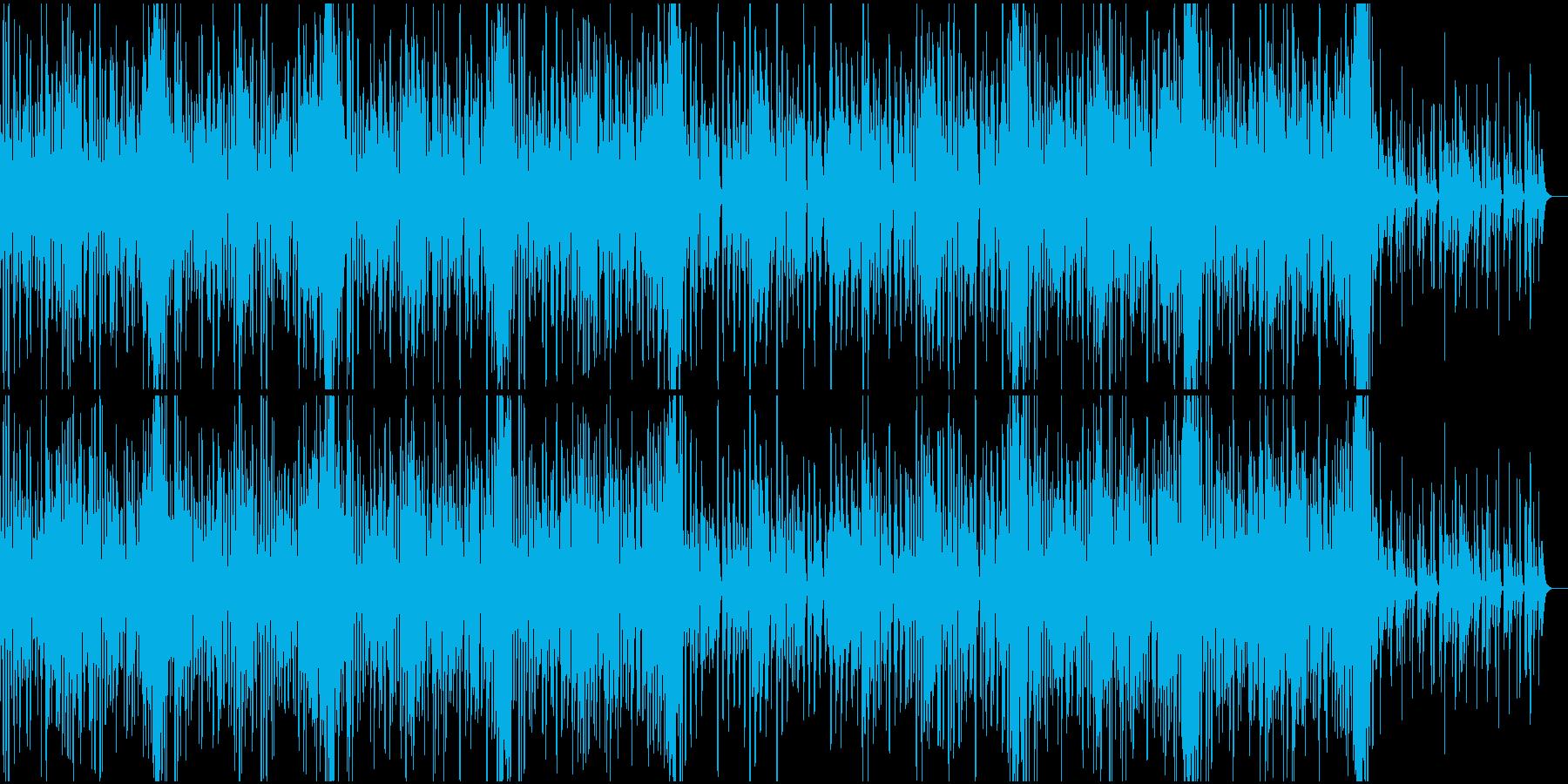 楽しい感じのエレクロトポップスの再生済みの波形