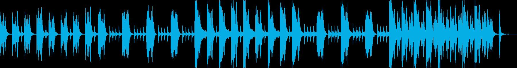 日常で使える気のゆるいBGMの再生済みの波形