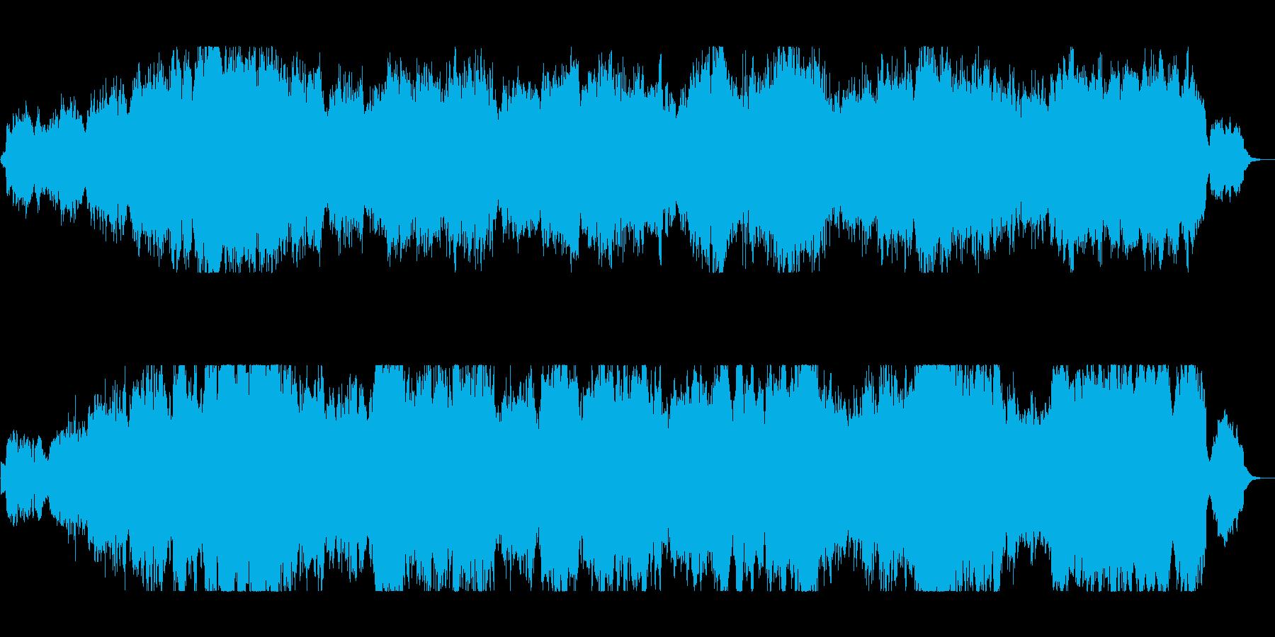 達成感あふれる感動の女性ボーカル曲の再生済みの波形