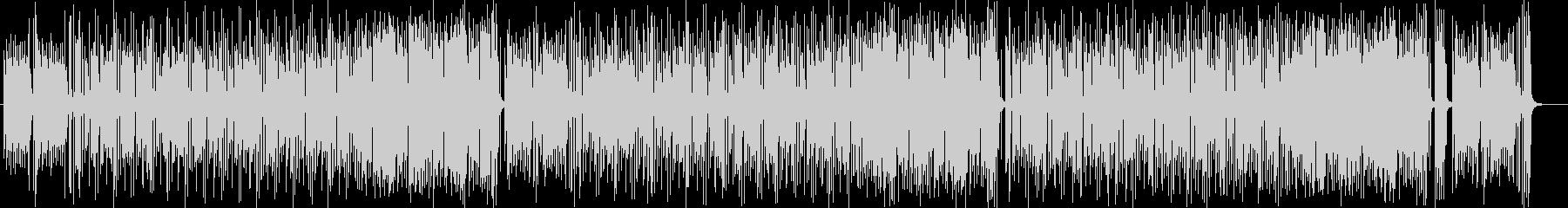 ミディアムテンポのコミカルなポップスの未再生の波形