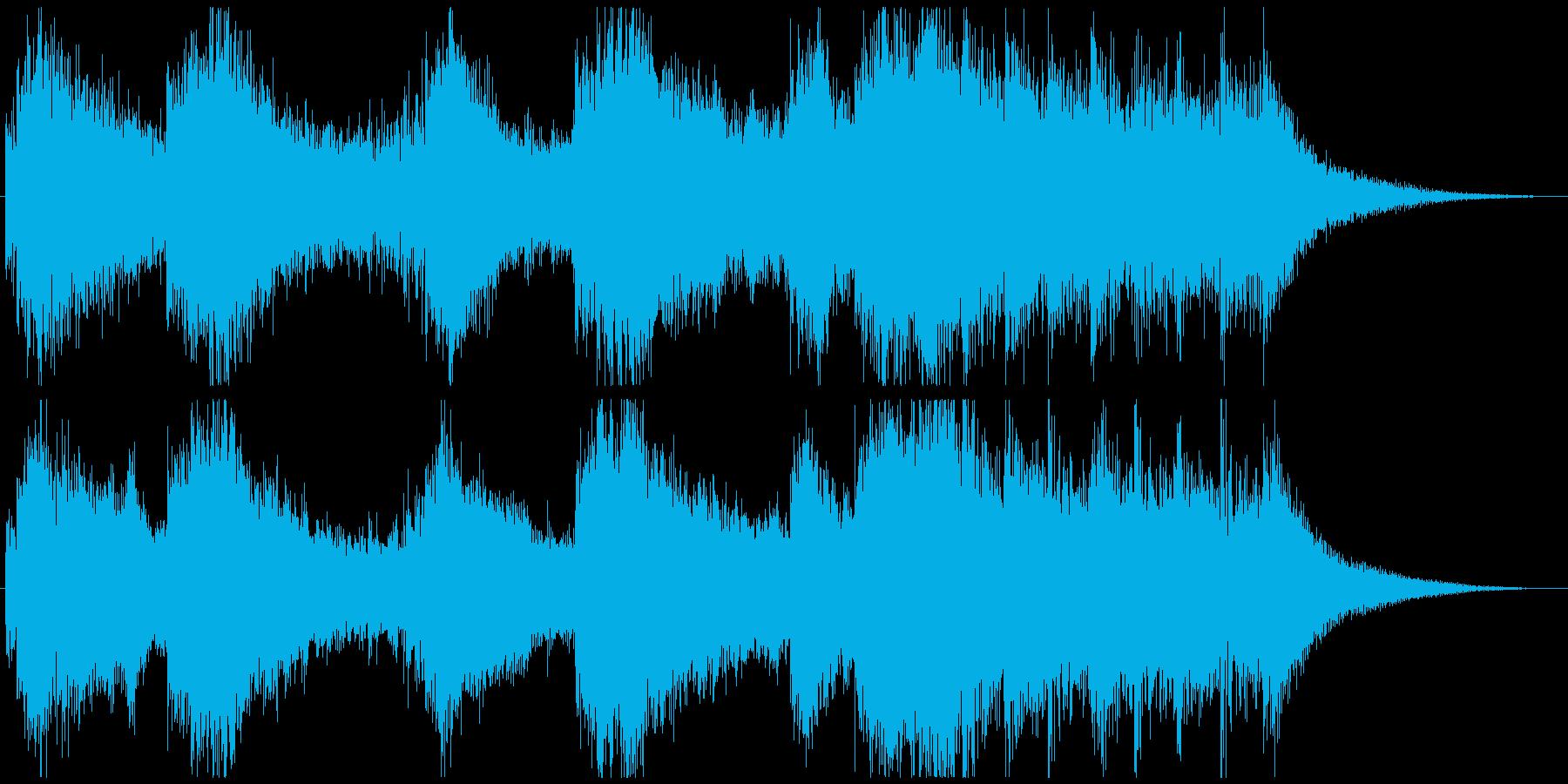 重厚で迫力のあるファンファーレの再生済みの波形