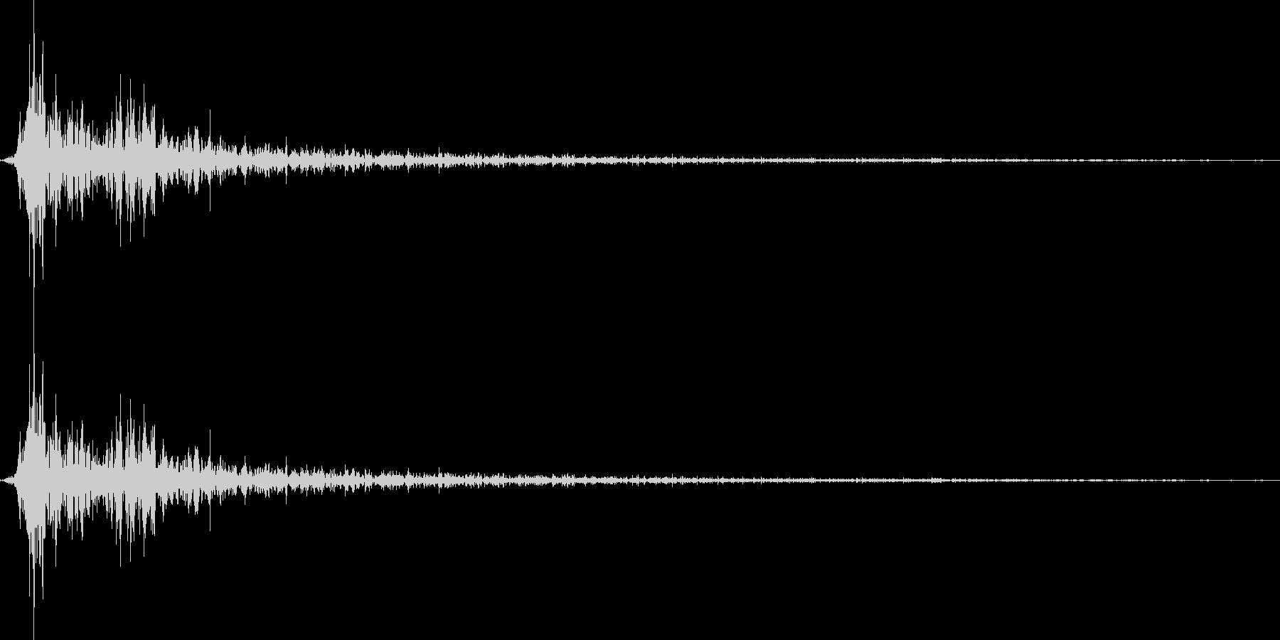 将棋の駒を指す 効果音 01の未再生の波形