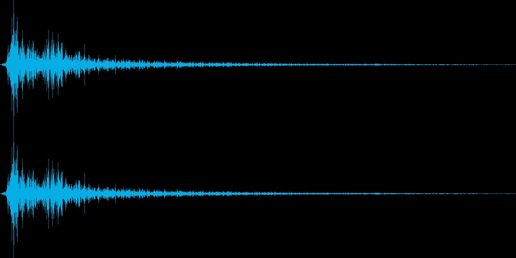 将棋の駒を指す 効果音 01の再生済みの波形