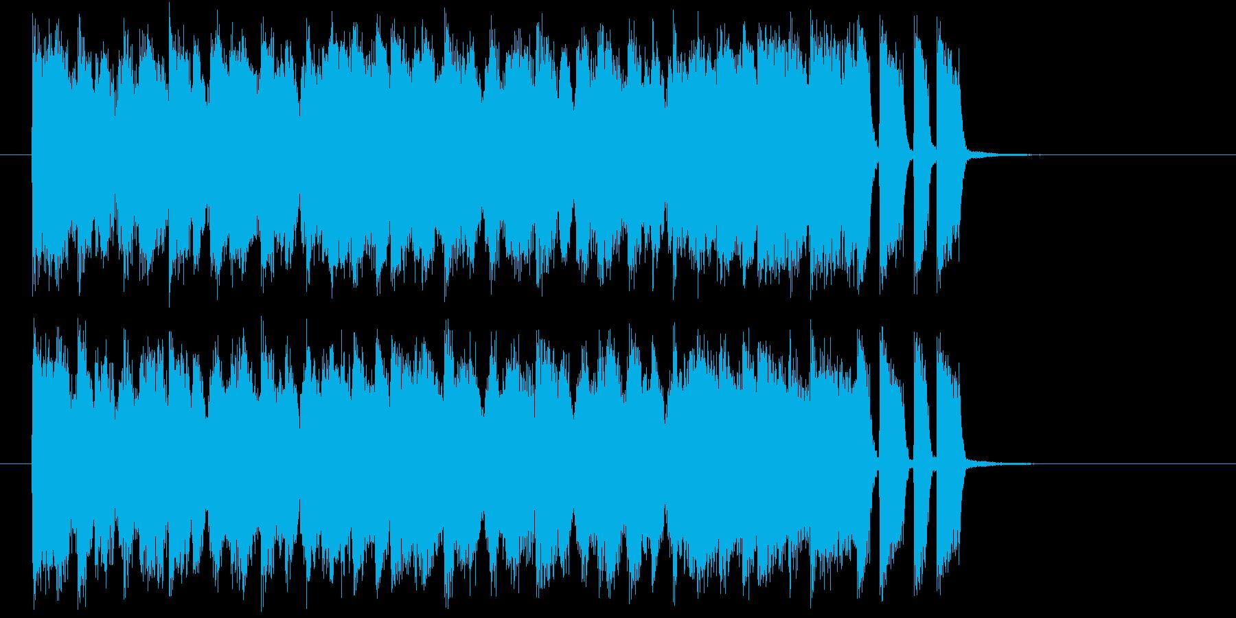 シンセとベースによるスウィングジャズの再生済みの波形