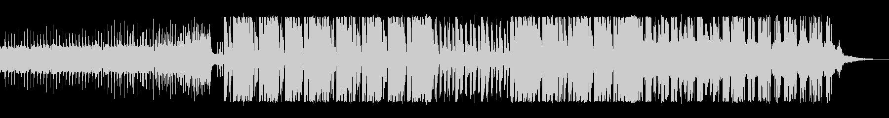 可愛い高音のテクノポップの曲の未再生の波形