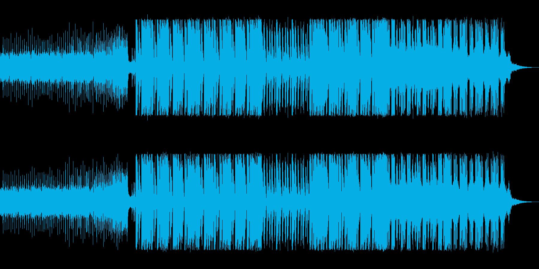 可愛い高音のテクノポップの曲の再生済みの波形