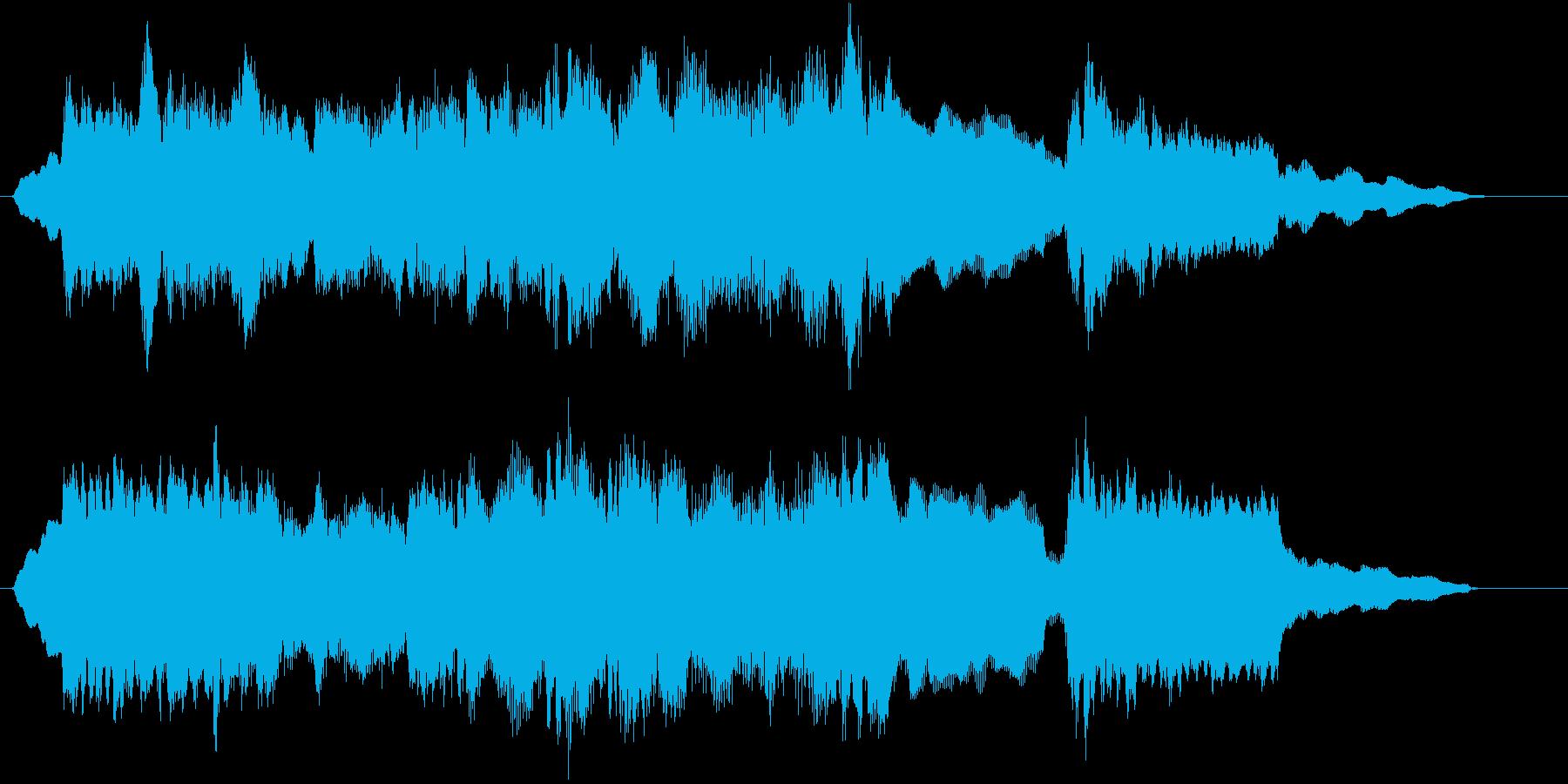 どこか切なく、懐かしいようなジングル曲の再生済みの波形