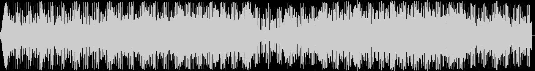 無機質でハイテンポなハウスミュージックの未再生の波形