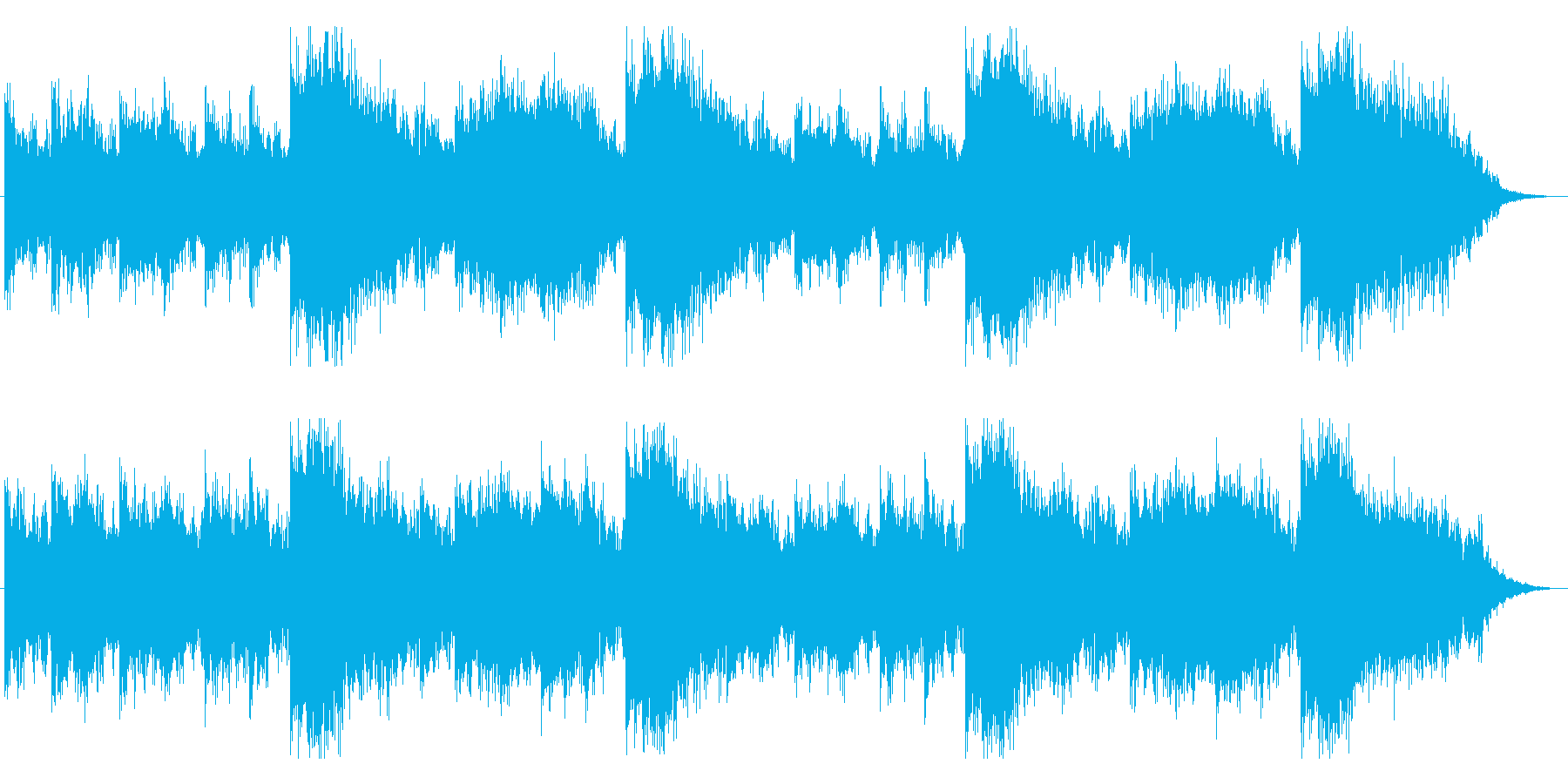 不穏な空気が漂うホラー用BGMの再生済みの波形