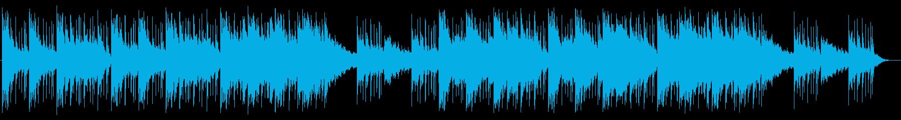 幻想的で優雅なピアノメロディーの再生済みの波形