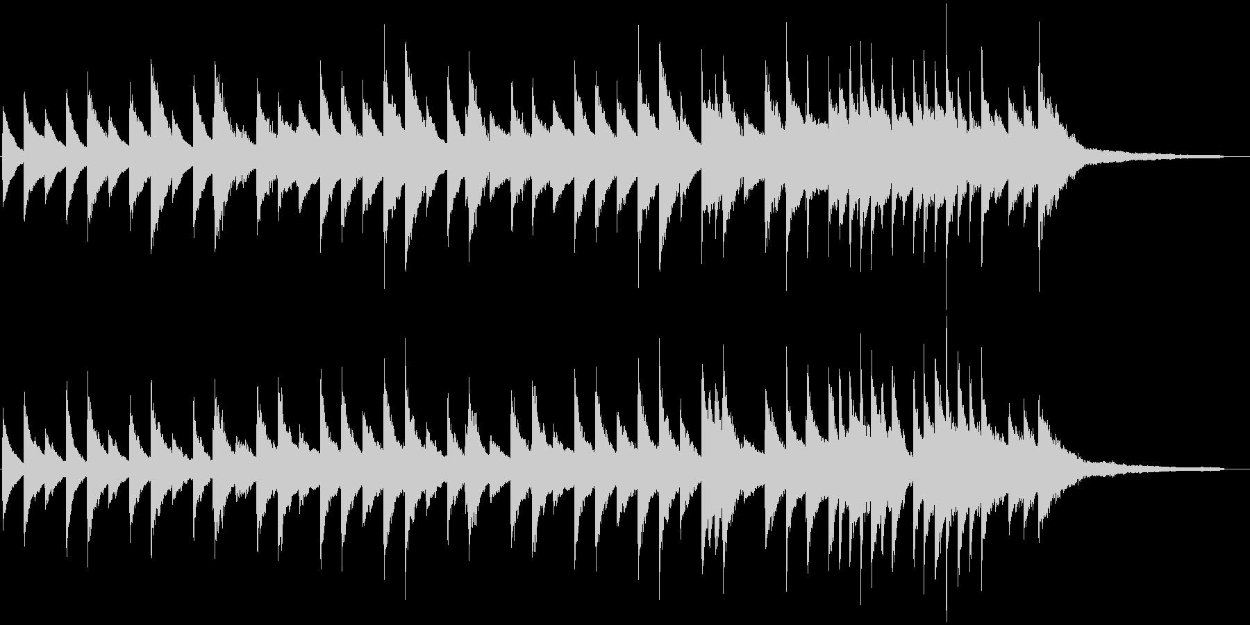 スローで落ち着いたピアノのBGMの未再生の波形