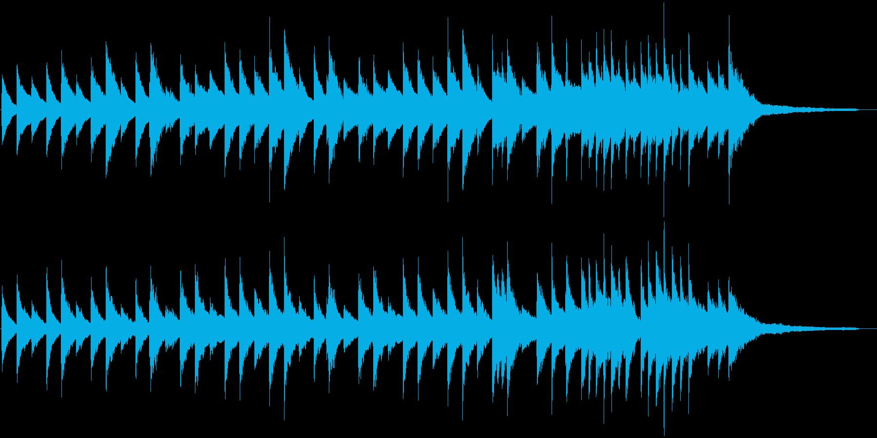 スローで落ち着いたピアノのBGMの再生済みの波形