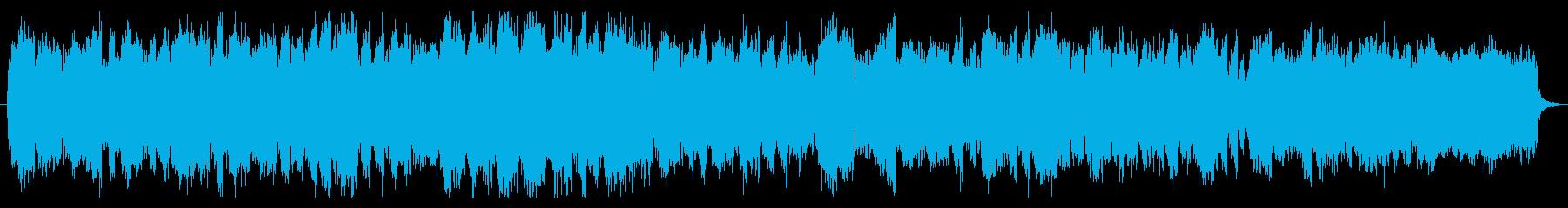 教会をイメージしたストリングスの曲の再生済みの波形