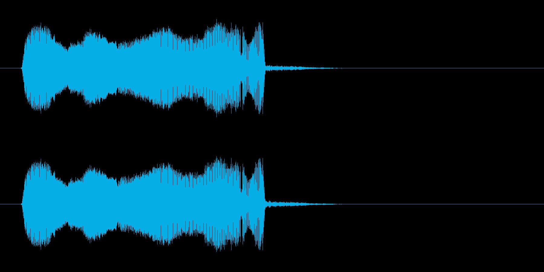 キューッ!!小動物の悲鳴のような効果音の再生済みの波形