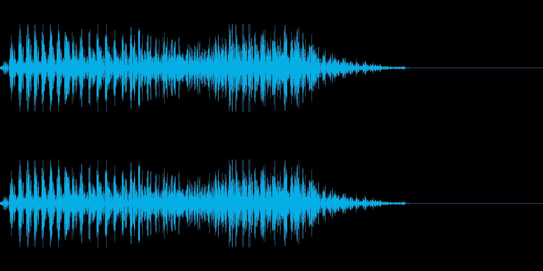 ゾンビの発声に 5の再生済みの波形